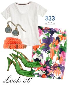 """""""Project 333/Phase 4/Summer Look 36"""" by jcrewchick ❤ liked on Polyvore"""