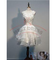 Charming Homecoming Dresses,Organza Homecoming Dress,Appliques Homecoming Dress,Short Homecoming Dress,Noble Homecoming Dress