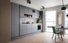 grey kitchen designs Soft Grey Kitchen with Brass and Timber Accents Ideas - grhaku Grey Kitchen Designs, Kitchen Room Design, Custom Kitchen Cabinets, Kitchen Cabinet Design, Modern Kitchen Design, Home Decor Kitchen, Rustic Kitchen, Kitchen Interior, Home Kitchens
