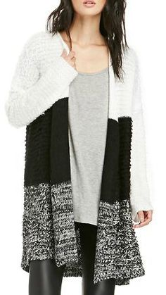 neutral color blocking sweater