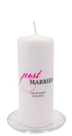 Hochzeitskerze - just married