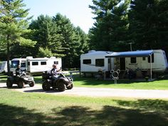 KOA Parry Sound ATV in campground    The only KOA in Ontario allowing you to ride your ATV from your campsite.