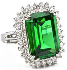 Emerald Ring by Kenneth Jay Lane