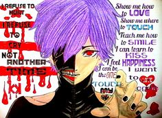 •••KANEKI KEN••• (…with text/quote XD) IDK IF THIS WILL BE GOOD 4 THE VILLAINS THEME  I JUST WANTED TO SHOW LMAO XD
