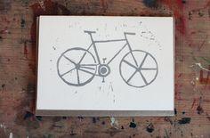 Bicycle card - Folksy - David Stelfox