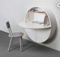 Do More With Less Space With The Pill Wall Mounted Desk By Emko. This  Modern Furniture Opens Up To A Full Work Space.