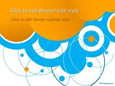 Free Blue Circles PPT Template #PowerPoint #templates