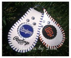 Custom Keychain made with a REAL BASEBALL - Can be made for any team or even with your own picture! Find it on Etsy!!! designedbydiva, $18.00 www.facebook.com/designsbydiva Go Giants!