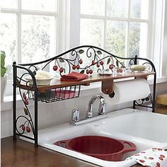 Scroll Cherry Over The Sink Shelf Great For Small Kitchen Country Door