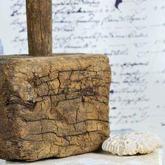 vintage rustic primitive wooden malet..  hammer...  by CoolVintage
