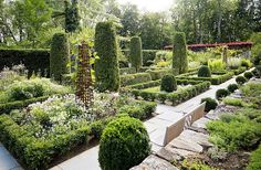 """""""I was inspired to make changes to this garden after visiting an English-style garden in Normandy created by the late, great landscape designer Russell Page,"""" says Bunny."""