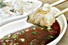 Shrimp Dumplings with Apricot Soy Sauce