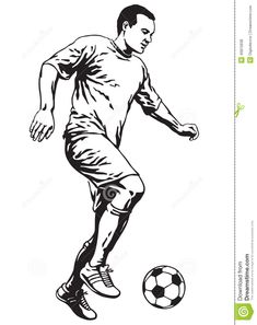 soccer-football-player-motion-vector-illustration-40815638.jpg (1030×1300)