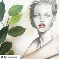 Another awesome #artwork by @iamamara_  thanks for sharing! #inspiringpieces #TalentPool #art #drawing #girl #portrait #drawings #inspiration #inspiring #redlips #fashion #beauty #artist
