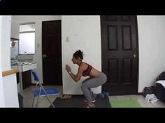 Eliminar celulitis, TONIFICAR piernas - Rutina 87 - Sentadillas Con Salto - Dey Palencia Reyes - YouTube
