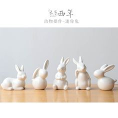 Wonderful Spring Decoration Ceramic White Rabbit Figurines Light Up Any Area with These Cute Bunnies Great for Kitchen's, Bathrooms and Living Rooms 4 Different Bunnies to Choose From Ceramic Animals, Ceramic Art, Cerámica Ideas, Rabbit Crafts, Clay Art Projects, Miniature Figurines, Polymer Clay Crafts, Artisanal, Easter Crafts