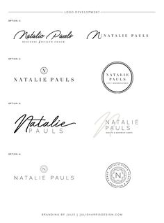 Logo Development Process by Whiskey and Red for Natalie Pauls Business and Wellness Coach