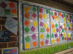 A Fraction Bulletin Board for Spring!