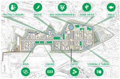 Map of the #Expo2015 Clusters in the Expo Site of #Milano