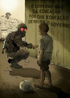 """""""The government does not give education because Education takes down a government"""" ~~ isnt exactly an accurated translation Cyberpunk, Character Art, Character Design, Satire, Oeuvre D'art, Apocalypse, Graffiti, Thoughts, Feelings"""