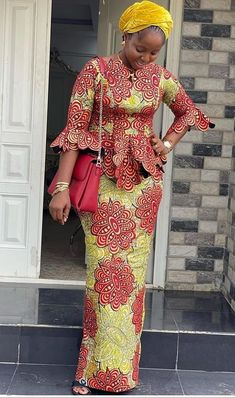 Latest African Fashion Dresses, African Dresses For Women, African Print Fashion, African Attire, African Wear, African Outfits, African Print Dress Designs, African Design, African Fashion Traditional