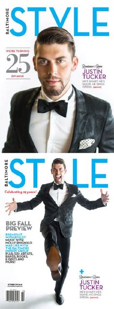 Justin Tucker on the cover of October's #Baltimore STYLE Magazine