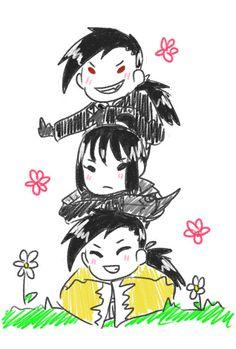 Ling Yao, Lan Fan, and GreedLing
