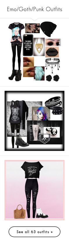 """Emo/Goth/Punk Outfits"" by vampirekitty34 ❤ liked on Polyvore featuring Patagonia, Paige Denim, Casetify, Demonia, Valentino, WithChic, Dr. Martens, Oasis, jeans and pants"
