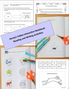The interactive notebook includes cute graphics and cut and stick activities to engage the students while they write plot summaries, infer moral messages, analyze similes and consider different language choices.  The resource is structured to support learning. The first story includes all definitions and supported activities. The second requires students to practice what they have learned. The third requires independent writing of The Fox and the Crow fable.