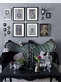 Gorgeous living/sitting room inspiration. #goth #home #decor #interiors #witchyvibes