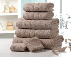 Enjoy the sensual softness of our luxurious Egyptian cotton towels. Designed to wrap you in luxury with wonderful softness to every touch. These are the perfect addition to your bathroom.  Luxurious 500gsm Egyptian cotton towel bale comprises: two 30 x 30cm face cloths two 50 x 80cm hand towels, two 65 x 120cm bath towels and one 90 x 140cm bath sheet.