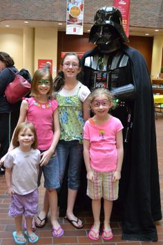 Candid Diversions: Throwback Thursday: Tigger, Lili, Darth Vader and Rosie Red #darthvader #comiccon14 #libraryevents