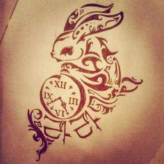Rabbit tattoo design by ~lolitalolly on deviantART