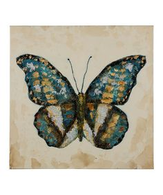 Another great find on #zulily! Shimmering Butterfly Wall Canvas #zulilyfinds