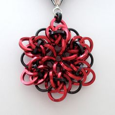 Chainmail pendant- with square ringa. Nice!