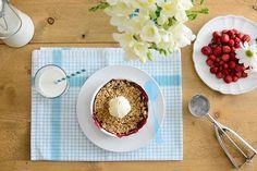 Wild strawberry crumble - Crumble de fresas silvestres