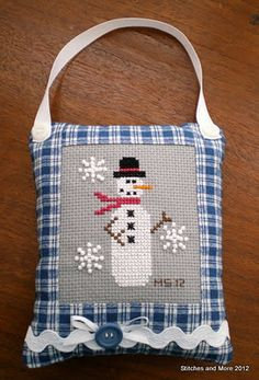 """Let It Snow"" -- Glory Bee design from 2009 Just Cross Stitch Ornament issue"