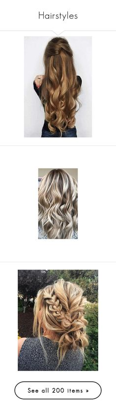"""""""Hairstyles"""" by defneveomer ❤ liked on Polyvore featuring braid, hairstyles, hair, hairstyle, hair styles, accessories, hair accessories, bridal hair accessories, bride hair accessories and beauty"""