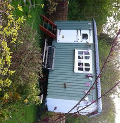 Our hut again. Shepherds Hut, Simple Living, Shed, Outdoor Structures, House, Home, Backyard Sheds, Haus, Coops