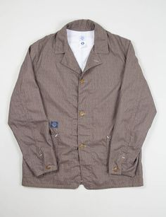 Post Overalls Brown Blues Calico Print Lined OK40 Jacket