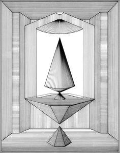 Lucio Saffaro, Il Tempio di Talete, 1978