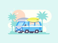 Van by Scott Tusk #Design Popular #Dribbble #shots