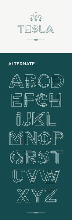 An interesting typeface that combines shapes to convey an approximation of the outlines of letters