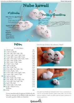 jpg 1 142 × 1 600 Pixel… Cloud amigurumi pattern by Gateando Crochet Source by adelatrebeskova Crochet Kawaii, Crochet Diy, Crochet Crafts, Crochet Projects, Diy Crafts, Crochet Patterns Amigurumi, Crochet Dolls, Crochet Baby Mobiles, Crochet Mignon
