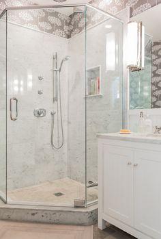 Semi frameless shower