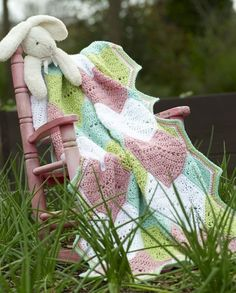 Happy Hearts Blanket - free pattern @ Hooked for Life