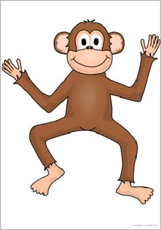 Giant monkey picture for display puzzle