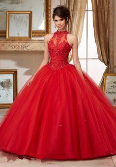 Modest Quinceanera Dress,Red Prom Dress,Fashion Prom Dress,Sexy Party Dress,Custom Made Evening Dress