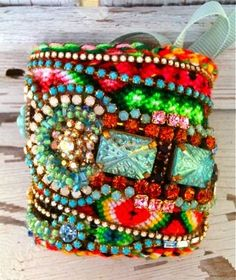 Boho-Chic - Handmade Bohemian Cuff Bracelet