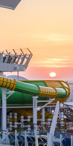 """Harmony of the Seas   Whip your way through the Supercell, one of three waterslides, but the only """"champagne bowl"""" slide."""
